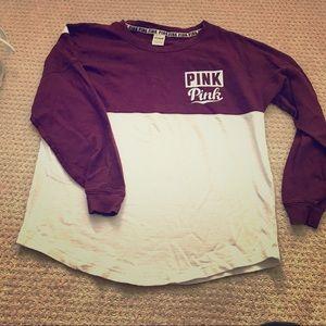 VS PINK logo long sleeve shirt